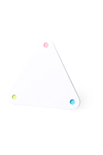 Háromszög alakú, újrahasznosított anyagból készült jegyzettömb